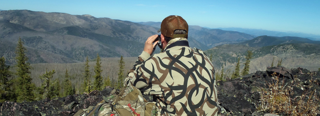 Glassing for elk in Montana mountains