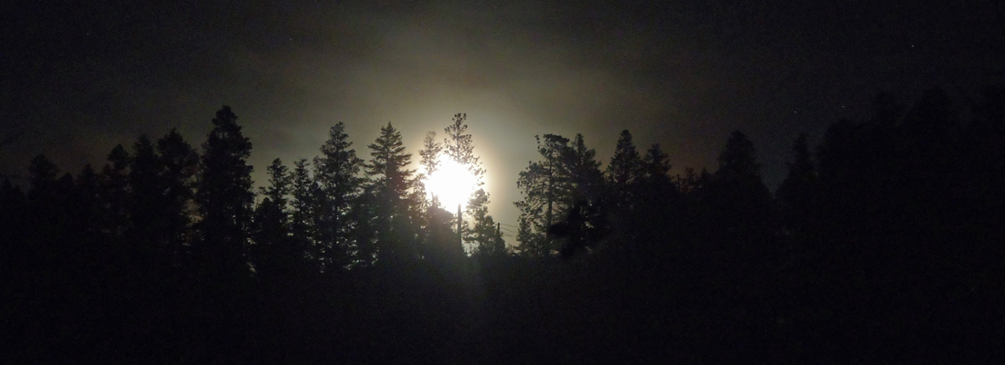 Full moon while elk hunting in Montana
