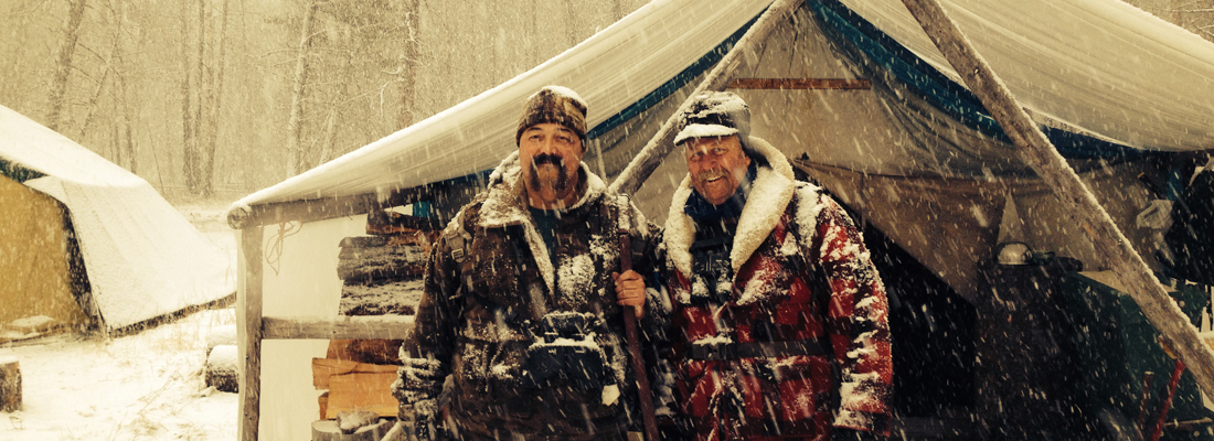 Hunting in a snowstorm for elk in Montana